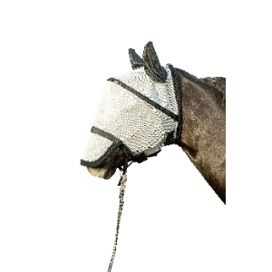 Fly Mask With Nose Protection And Velcro